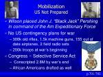 mobilization us not prepared