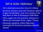 taft dollar diplomacy