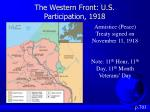 the western front u s participation 19181