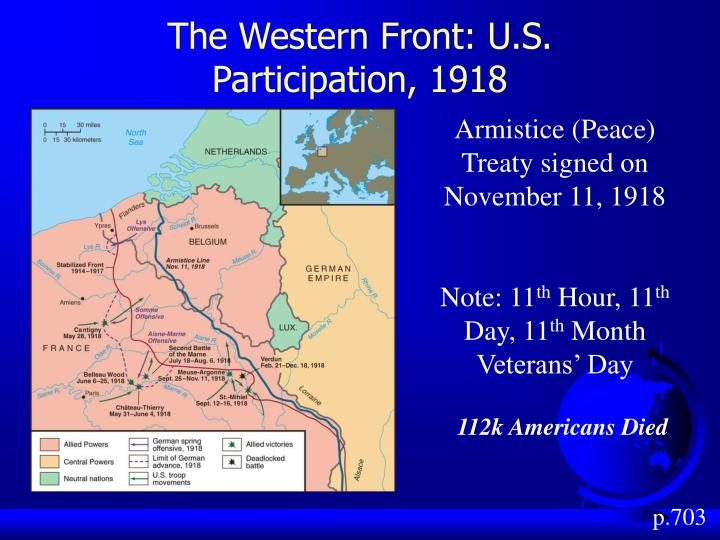 The Western Front: U.S. Participation, 1918