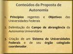 conte dos da proposta de autonomia