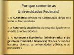 por que somente as universidades federais