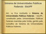 sistema de universidades publicas federais sisupf