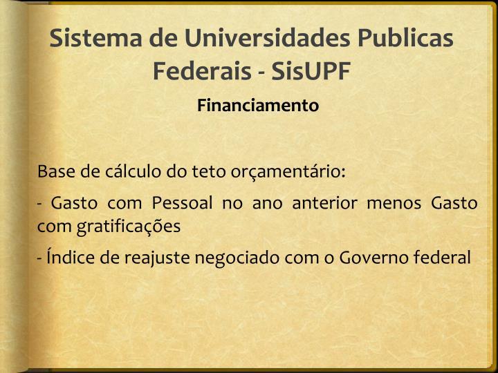 Sistema de Universidades Publicas Federais - SisUPF