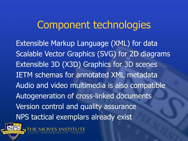 Component technologies