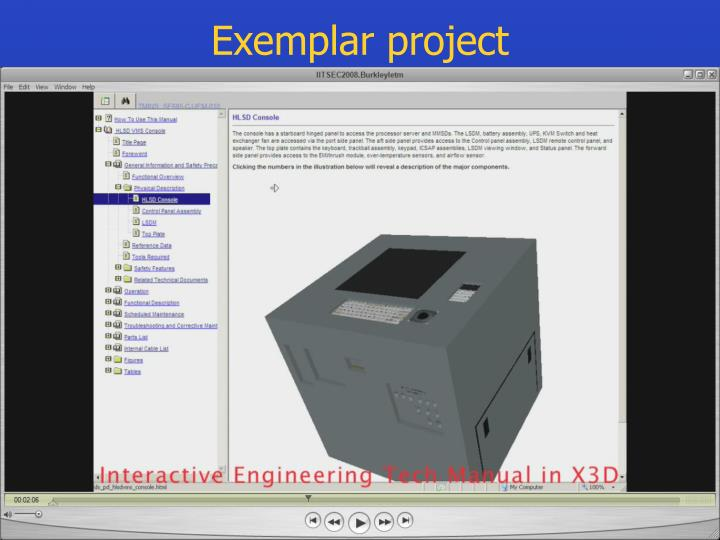 Exemplar project