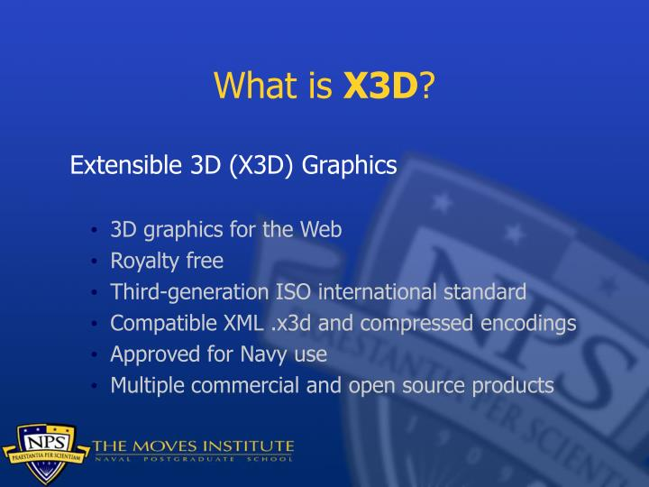 What is x3d