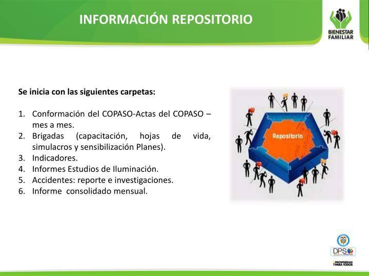 INFORMACIÓN REPOSITORIO