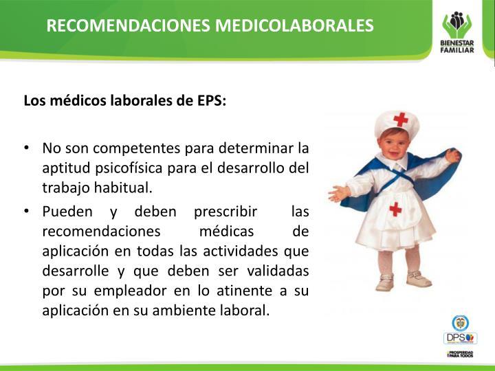 RECOMENDACIONES MEDICOLABORALES