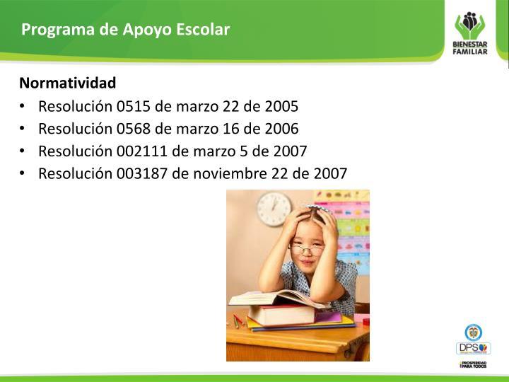 Programa de Apoyo Escolar