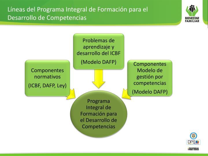 Líneas del Programa Integral de Formación para el  Desarrollo de Competencias
