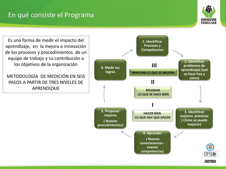 En qué consiste el Programa