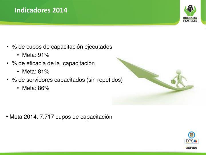 Indicadores 2014