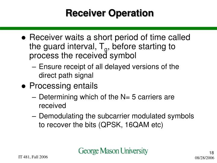 Receiver Operation
