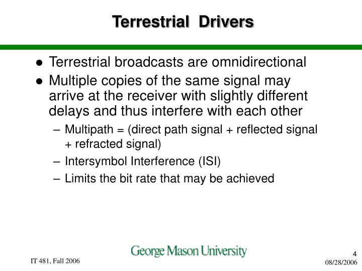 Terrestrial  Drivers