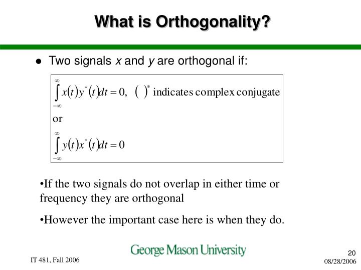 What is Orthogonality?