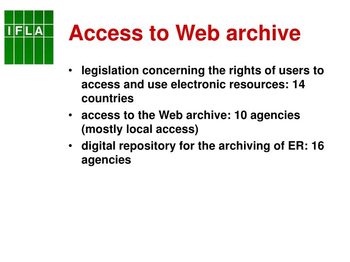 Access to Web archive