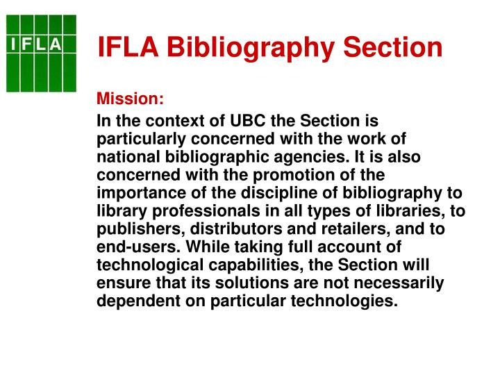 IFLA Bibliography Section