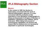 ifla bibliography section1