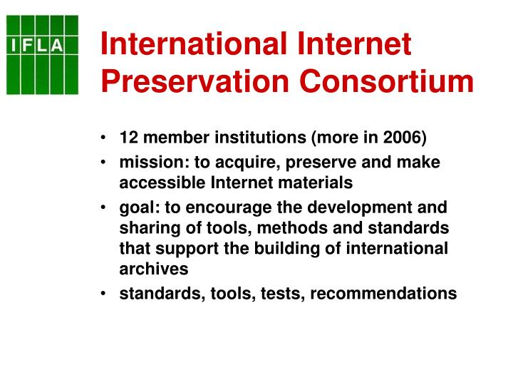 International Internet Preservation Consortium
