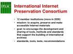 international internet preservation consortium