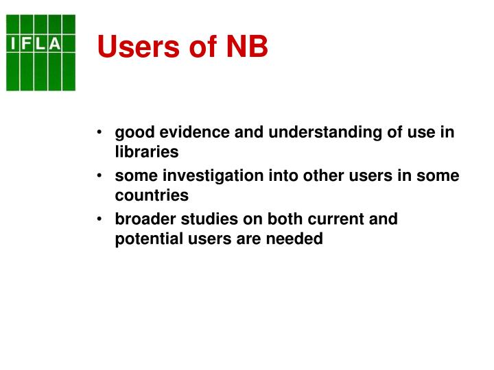 Users of NB