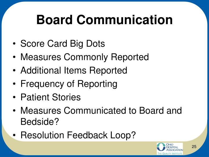 Board Communication