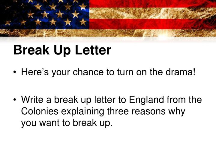 Break Up Letter
