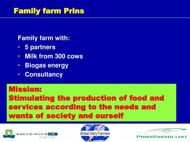 Family farm Prins