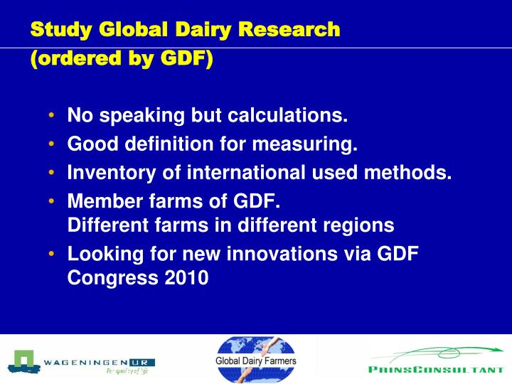 Study Global Dairy Research