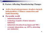 ii factors affecting manufacturing changes2
