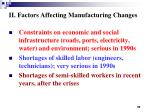 ii factors affecting manufacturing changes3
