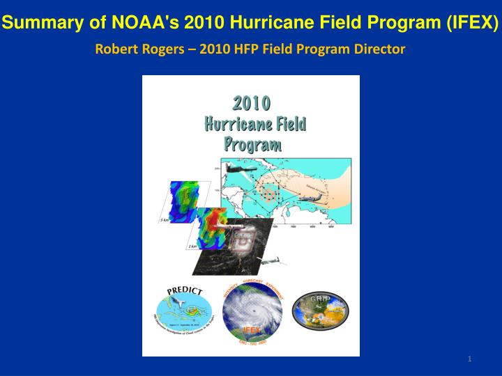 Summary of NOAA