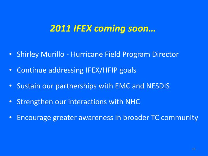 2011 IFEX coming soon…