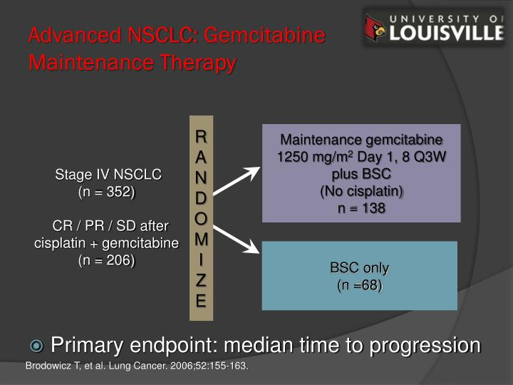 Advanced NSCLC: