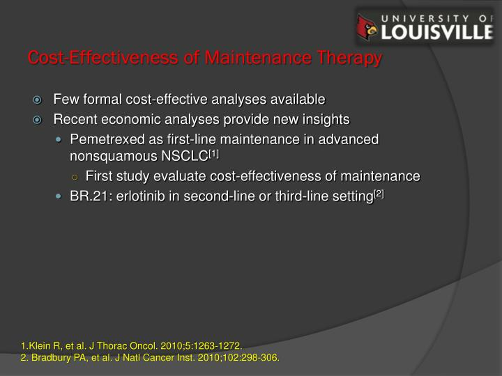 Cost-Effectiveness of Maintenance Therapy