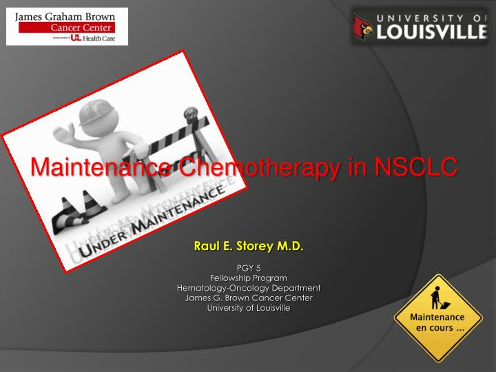 Maintenance Chemotherapy in NSCLC
