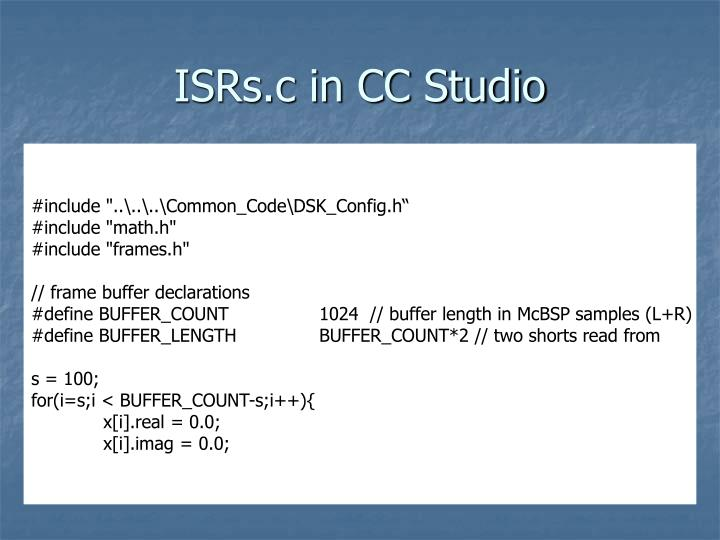 ISRs.c in CC Studio