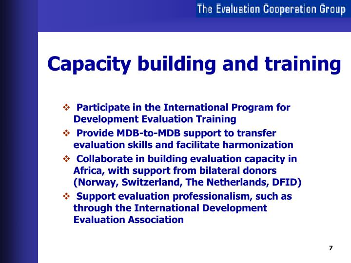 Capacity building and training
