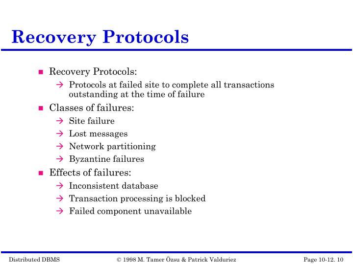 Recovery Protocols