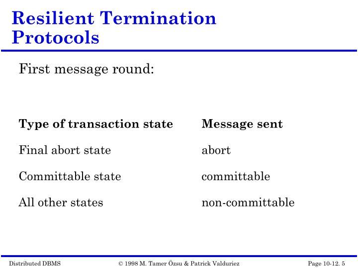 Resilient Termination Protocols