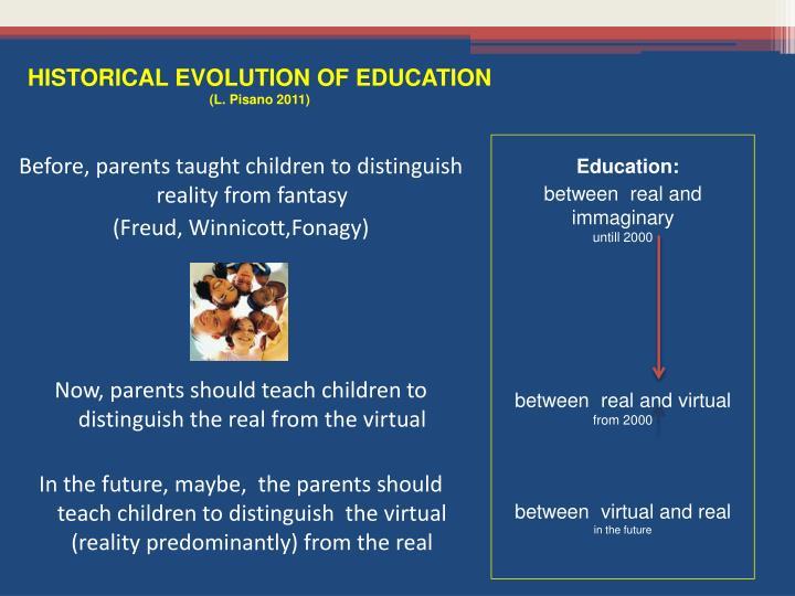 HISTORICAL EVOLUTION OF EDUCATION