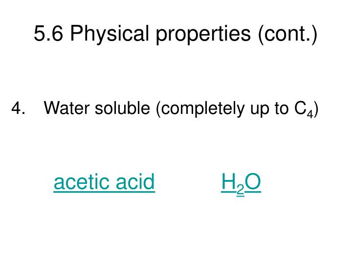 5.6 Physical properties (cont.)