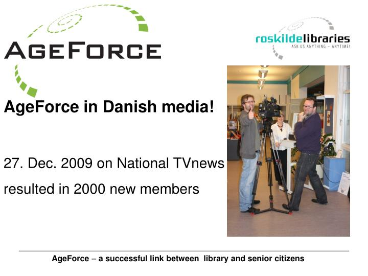 AgeForce in Danish media!