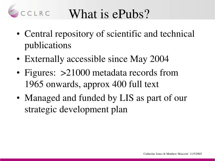 What is ePubs?