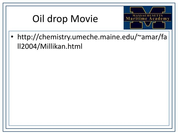 Oil drop Movie