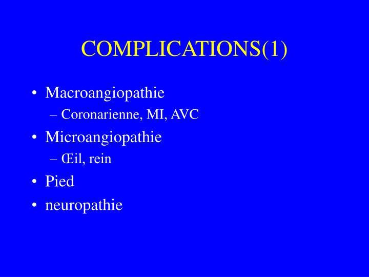 COMPLICATIONS(1)