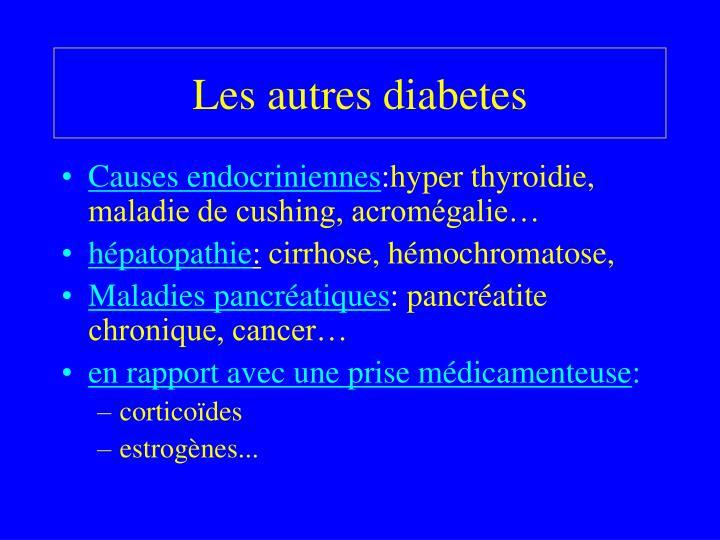 Les autres diabetes