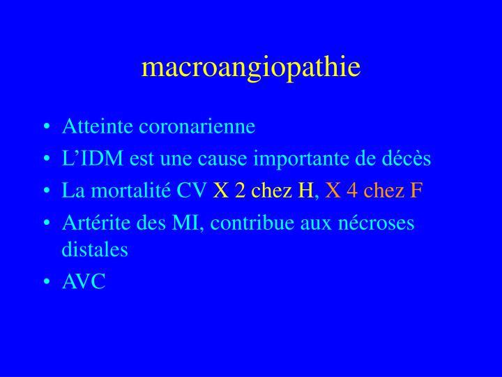 macroangiopathie