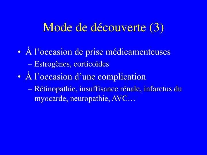 Mode de découverte (3)